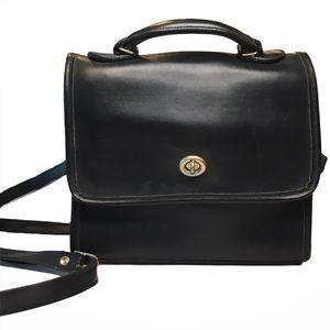 Vintage Coach Willis Station Leather Crossbody Bag
